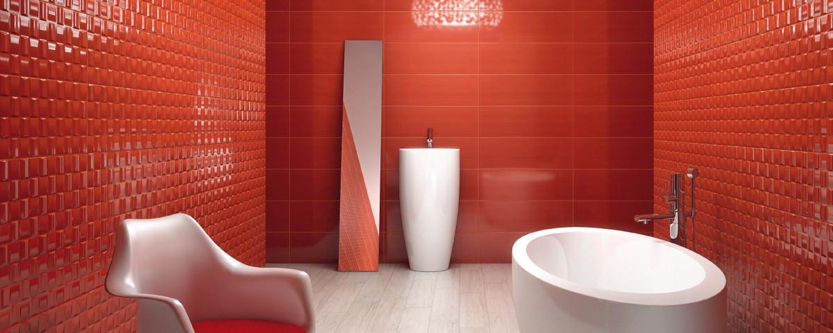 red porcelain tiles