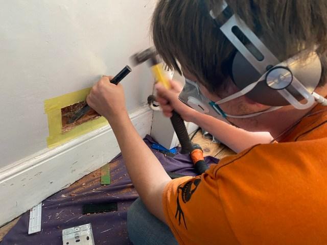 chasing metal back boxes DIY