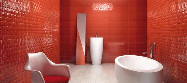 red porcelain tiles