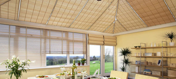 Conservatory with Birch Blinds
