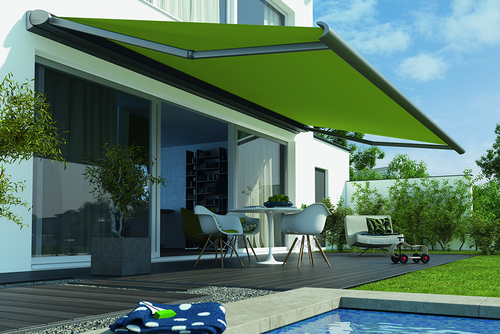 canvas awning - residential